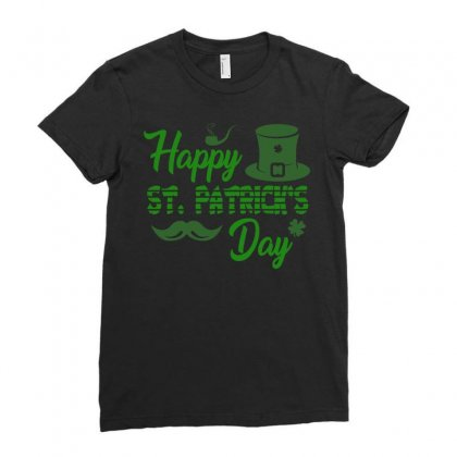 Happy St Patrick S Day   Celebratory T Shirt Ladies Fitted T-shirt Designed By Hung
