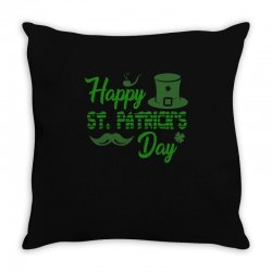 Happy St Patrick S Day   Celebratory T Shirt Throw Pillow Designed By Hung