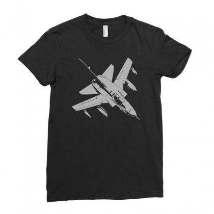 Tornado Bundeswehr Aircraft Airplane Bomber Nato Jet Ladies Fitted T-shirt Designed By Mdk Art