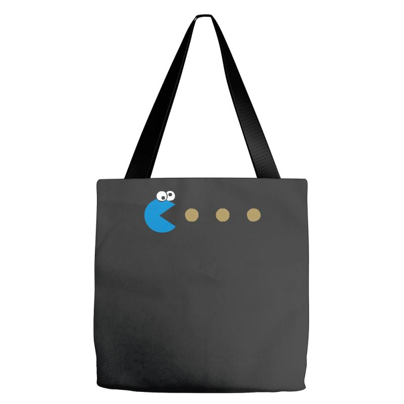 78731b414c8e Custom Funny 80s Pacman Cookie Monster Retro Gaming Tote Bags By Mdk Art -  Artistshot