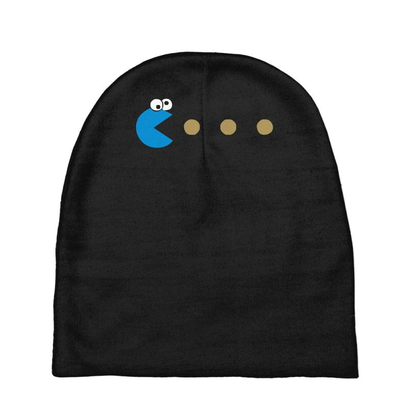 a47579a22b8 Custom Funny 80s Pacman Cookie Monster Retro Gaming Baby Beanies By ...