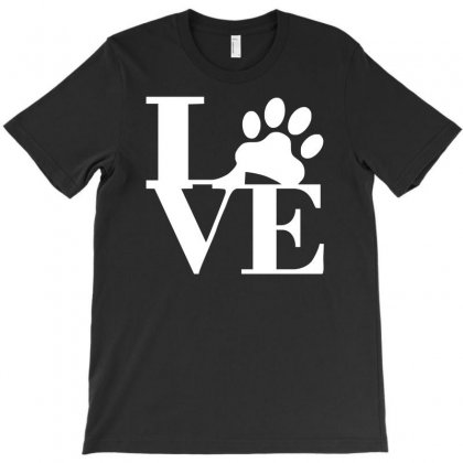 Love Paw Sticker Vinyl Decal T-shirt Designed By Mdk Art