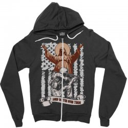 The American Soldier   God, Family, Country t shirt Zipper Hoodie | Artistshot