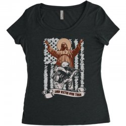 The American Soldier   God, Family, Country t shirt Women's Triblend Scoop T-shirt | Artistshot