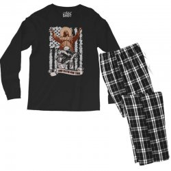The American Soldier   God, Family, Country t shirt Men's Long Sleeve Pajama Set | Artistshot