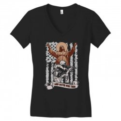 The American Soldier   God, Family, Country t shirt Women's V-Neck T-Shirt | Artistshot