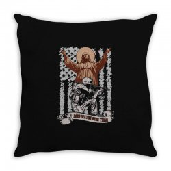 The American Soldier   God, Family, Country t shirt Throw Pillow | Artistshot