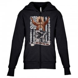 The American Soldier   God, Family, Country t shirt Youth Zipper Hoodie | Artistshot