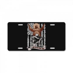 The American Soldier   God, Family, Country t shirt License Plate | Artistshot