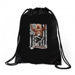 The American Soldier   God, Family, Country t shirt Drawstring Bags | Artistshot