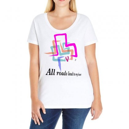 All Roads Lead To My Heart Ladies Curvy T-shirt Designed By Issam