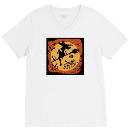 Depositphotos 31548891 Stock Illustration Halloween Illustration With V-neck Tee Designed By Baonguyen