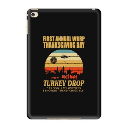 First Anuual Wkrp Turkey Drop With Les Nessman Distressed Ipad Mini 4 Case Designed By Blqs Apparel