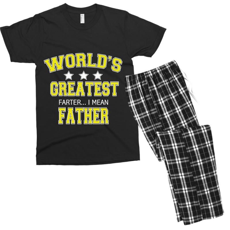 6a300262 Custom Worlds Greatest Farter I Mean Father Men's T-shirt Pajama Set ...