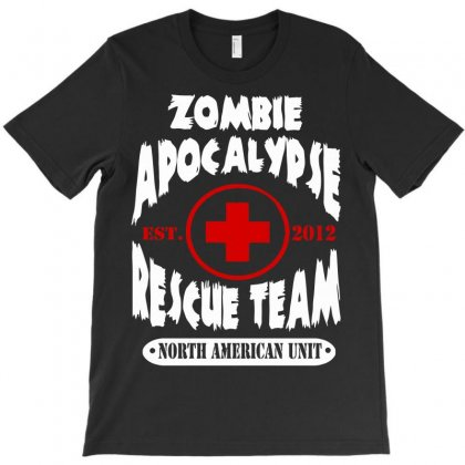 Zombie Apocalypse Rescue Team T-shirt Designed By Ikmal