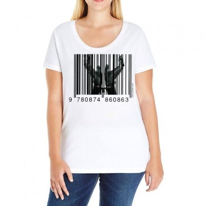 Chained By Capitalism Ladies Curvy T-shirt Designed By Art Pirate