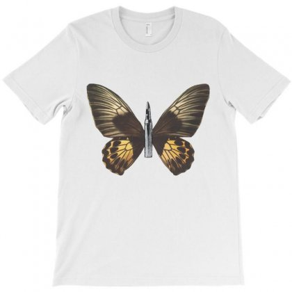 Bullet With Butterfly Wings T-shirt Designed By Art Pirate