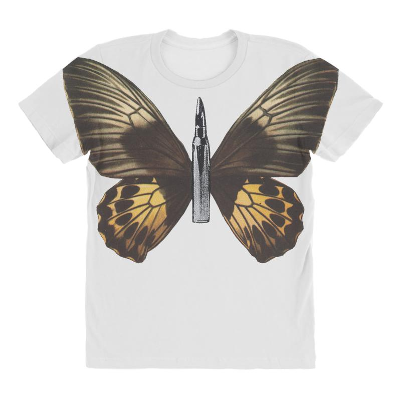 aa6a8be2d4f524 Custom Bullet With Butterfly Wings All Over Women s T-shirt By Art Pirate -  Artistshot