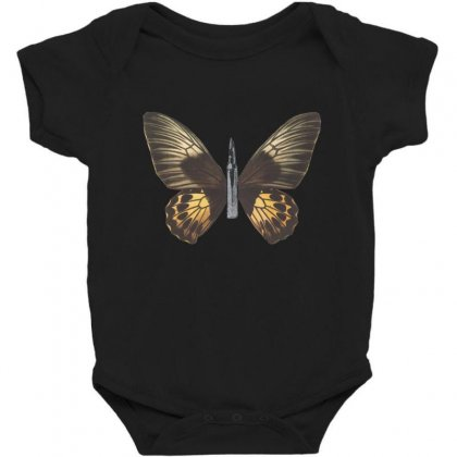 Bullet With Butterfly Wings Baby Bodysuit Designed By Art Pirate