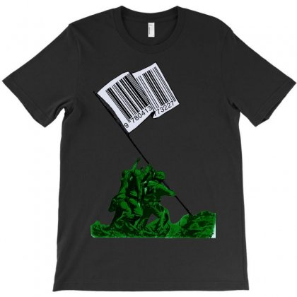 Raising The Flag Of Commerce T-shirt Designed By Art Pirate