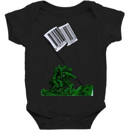 Raising The Flag Of Commerce Baby Bodysuit Designed By Art Pirate