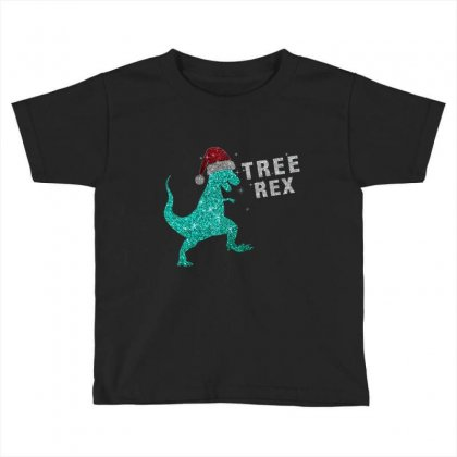 Bling Bling Christmas Tree Rex - Limited Edition Toddler T-shirt Designed By Hama Designer