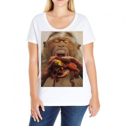 No More Fast Food Ladies Curvy T-shirt Designed By Art Pirate