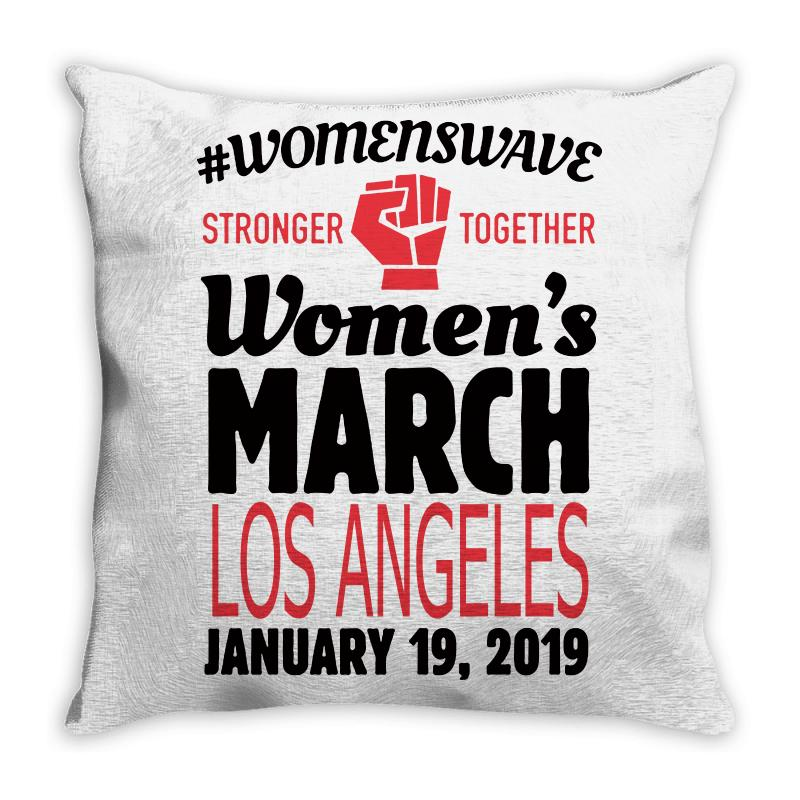Custom Women s March 2019 Los Angeles Throw Pillow By Blqs Apparel ... 23688ebf8d