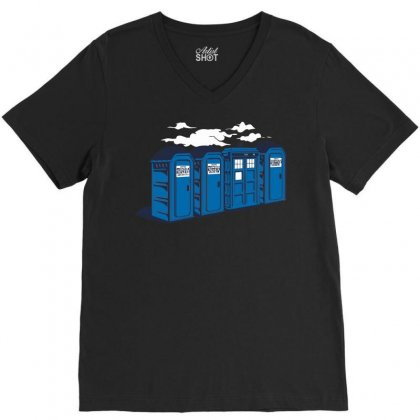 Port A Tardis V-neck Tee Designed By Ikmal