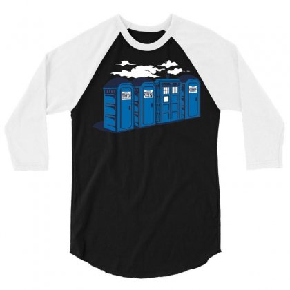 Port A Tardis 3/4 Sleeve Shirt Designed By Ikmal