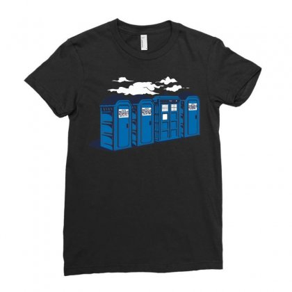 Port A Tardis Ladies Fitted T-shirt Designed By Ikmal