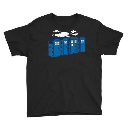 Port A Tardis Youth Tee Designed By Ikmal