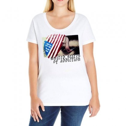 United States Of Addiction Ladies Curvy T-shirt Designed By Art Pirate