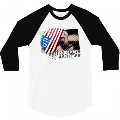 United States Of Addiction 3/4 Sleeve Shirt Designed By Art Pirate