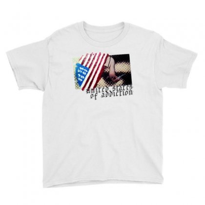 United States Of Addiction Youth Tee Designed By Art Pirate