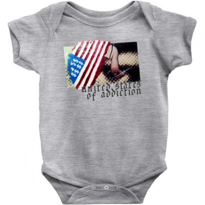 United States Of Addiction Baby Bodysuit Designed By Art Pirate