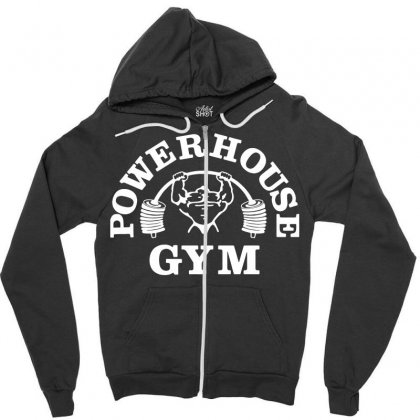 Fashion Bodybuilding Power House Gym Fitness Zipper Hoodie Designed By Tee Shop