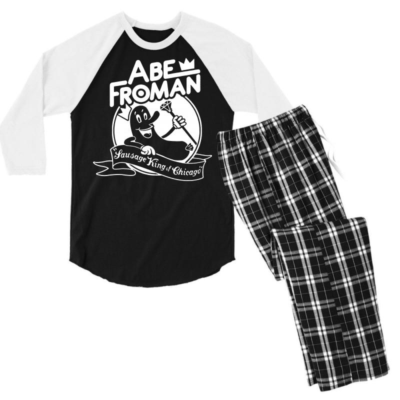 a1b1dc73057 Custom Ferris Bueller s Day Off Abe Froman Men s 3 4 Sleeve Pajama ...