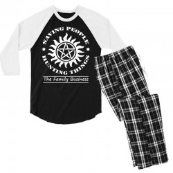 Family Business t shirt Men's 3/4 Sleeve Pajama Set | Artistshot