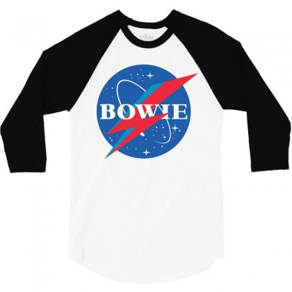 Bowie Nasa Parody 3/4 Sleeve Shirt Designed By Toweroflandrose