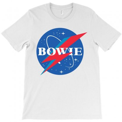 Bowie Nasa Parody T-shirt Designed By Toweroflandrose