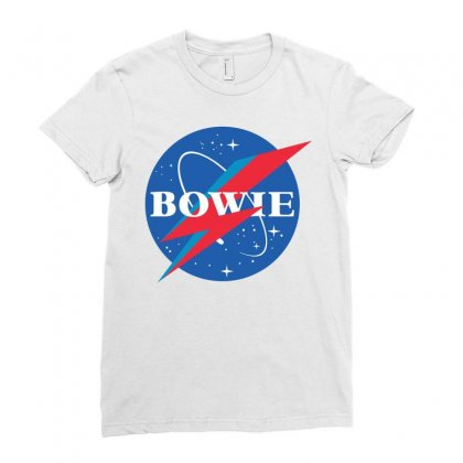 Bowie Nasa Parody Ladies Fitted T-shirt Designed By Toweroflandrose