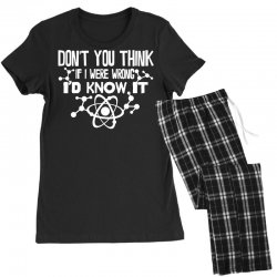 funny big bang theory don't you think if i were wrong i'd know Women's Pajamas Set   Artistshot