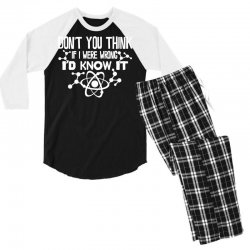 funny big bang theory don't you think if i were wrong i'd know Men's 3/4 Sleeve Pajama Set   Artistshot