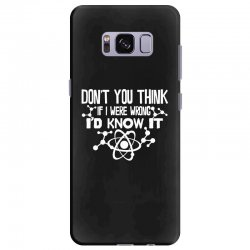 funny big bang theory don't you think if i were wrong i'd know Samsung Galaxy S8 Plus Case   Artistshot