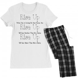hamilton musical quote rise up for light Women's Pajamas Set | Artistshot