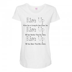 hamilton musical quote rise up for light Maternity Scoop Neck T-shirt | Artistshot