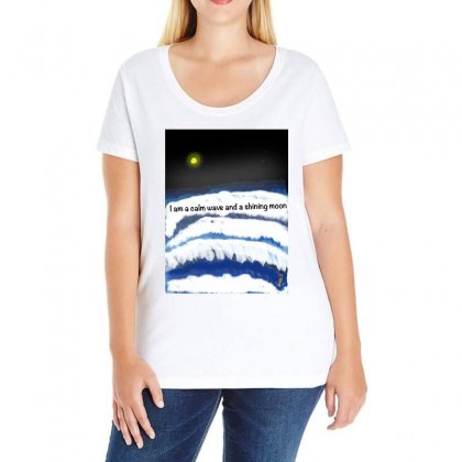 I Am A Calm Wave And A Shining Moon Ladies Curvy T-shirt Designed By Issam