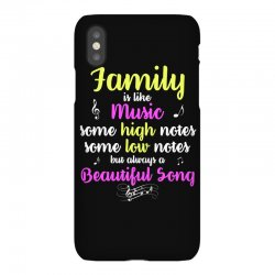 Family Is Like Music Some High Notes Somes Low Notes But Always A Beau iPhoneX Case | Artistshot