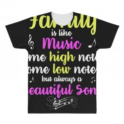 Family Is Like Music Some High Notes Somes Low Notes But Always A Beau All Over Men's T-shirt | Artistshot